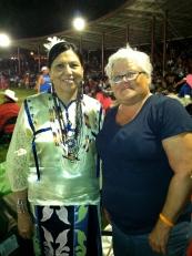 The two Karens at Winnebago Powwow, July 2012.