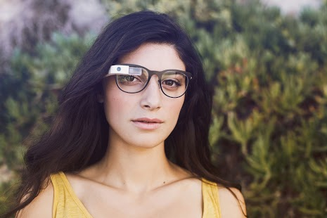 This promotional image from Google Glass is found on the product purchase page.