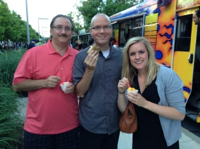 Mike Kornemann, my boss, treating us to ice cream.