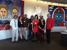 Latino mural arts at Dane Arts event.